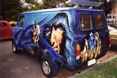 Customised Vans, Custom Vans, Bedford Van, Camper, Old School Vans, Painted Vans, Vanz, Day Van, Panel Truck