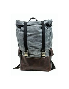 3d919413c6cd Waterproof Waxed Canvas Rolltop Rucksack 22 Liter laptop backpack on Etsy.