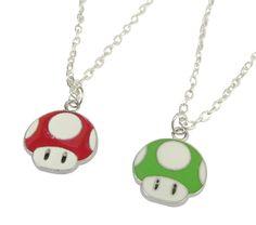 Mario Mushroom Nintendo Necklace 1 Up custom by CaliforniaMommy3, $4.99