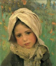 Little Child by Sir George Clausen gorgeous portrait Paintings I Love, Beautiful Paintings, Sculpture Textile, Illustration Photo, English Artists, Art Uk, Portrait Art, Artist At Work, Love Art