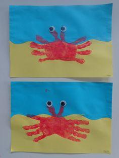 Tekenlesjes: Krab met wiebelogen