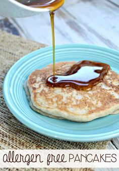 This allergen-free pancake recipe is gluten-free, dairy-free and even egg free. They are fluffy and perfectly delicious and a must-have for Saturday morning breakfast.