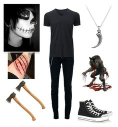 """""""Ace (The Hunter) - Creepypasta RP Group OC"""" by shadow-cheshire ❤ liked on Polyvore featuring Dsquared2, Uniqlo, Converse, David Yurman, women's clothing, women, female, woman, misses and juniors"""