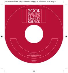 2001: Music from the films of Stanley Kubrick CD onbody. Client: Silva Screen Records. Circa 2005. © Sean Mowle.