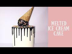 Doble Barrel | Melted Ice Cream Cake - YouTube Bolo Drip Cake, Drip Cakes, Cream Cake, Ice Cream, Tres Leches Cake, Cake Youtube, Sweets Cake, Cake Decorating, Decorating Ideas