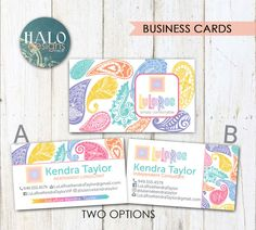 LuLaRoe Business Cards  Paisley business cards by HALOdesignsSHOP