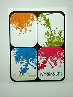 love the paint splatter look. make a good teen card
