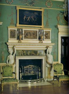 mantel at Spencer House, London