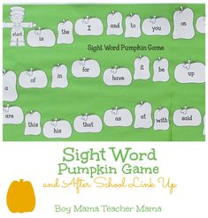 5 Simple Game Boards for Sight Word Practice and After School Link Up I love my class this year. Well, I love my class every year, but this year is especially exciting because they are what I call...