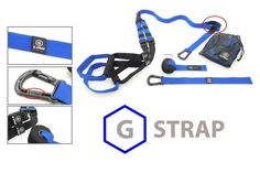 Blue G-STRAP Suspension Body Fitness Trainer Resistance Home Gym Fitness Training