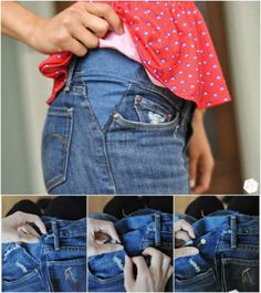 Agrandir un jean au niveau de la taille.14 Astuces pour faire ses propres retouches de vêtements