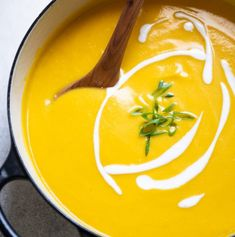Stay warm with this flavorful vegan butternut squash soup that's flavored with Asian spices. It's a creamy soup that you can serve as an appetizer or a light meal. Vegan Butternut Squash Soup, Pan Fried Tofu, Hemp Milk, Toasted Pumpkin Seeds, Vegan Baby, Light Recipes, Spinach, Healthy, April 25