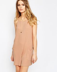 Image 1 of ASOS Rib Cami Slouch Playsuit