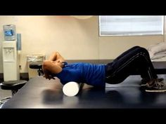 Foam Roller For Spine, Ribcage and Shoulder Flexibility. The exercise targets multiple joints and muscle groups. Great for neck and shoulder problems.  http://www.tridoshawellness.com/foam-roller-for-spine-ribcage-and-shoulder-flexibility/  http://www.facebook.com/TridoshaWellness