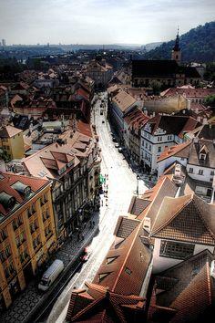 A view of Prague from St Nicholas church. Una vista de Praga desde la iglesia de San Nicolás | Flickr - Photo Sharing!