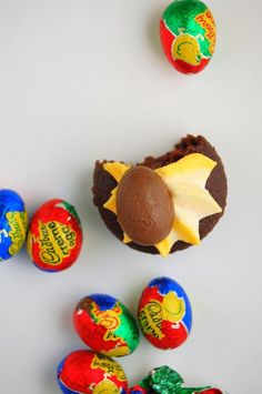 Cadbury Cream Cupcakes - I don't even like those eggs that much, but I would totally eat a cupcake made out of them :)
