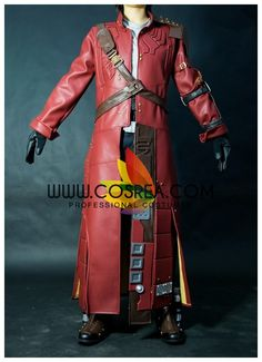 Costume Detail Guardians Of The Galaxy Star Lord Upgrade Cosplay Costume Includes - Coat, Harness Belt, Pants, Boots, Gloves, Satchel, Boot Booster Please see individual tabs for information including