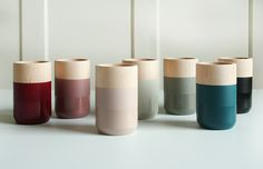 COMING SOON!! Wooden vases with new subtle and elegant style thanks to the combination of satin paint and high gloss lacquer.
