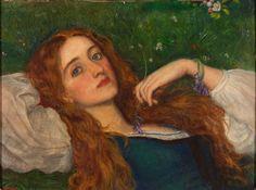 rainlullaby99:  In the Grass -Arthur Hughes (1832–1915)