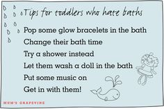 Not all kiddos like to splish splash so here are 15 tried, tested and mum-approved ways to get toddlers loving bath time again. Splish Splash, Happy Kids, Bath Time, Grape Vines, Laugh Out Loud, Baths, Toddlers, Parenting, Advice