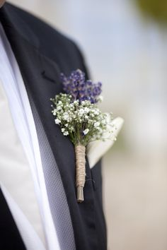 #boutonniere  Photography by melbarlowandco.com  Event Planning, Floral + Event Design by dmeventsny.com    Read more - http://www.stylemepretty.com/2012/04/10/crescent-beach-club-wedding-by-dm-events-planning-design/