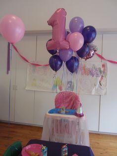 Balloons on high chair