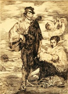 Édouard Manet (French, 1832-1883). Les Gitanos. The University of Michigan Museum of Art, Michigan. Gift of Ruth W. and Clarence J. Boldt., 2008. http://www.umma.umich.edu