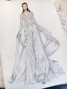 My working time!! In love with my princess ❤️ #fashionsketch #fashiondrawing #fashionillustrator #fashionillustration #fashionart #art #artwork #instaart #hautecouture #ralphrusso #paris #parisfashionweek2017 #parisfashionweek