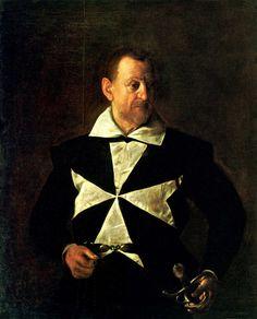 Caravaggio - Portrait of a Knight of Malta - possibly Fra Antonio Martelli - 1608  Palazzo Pitti, Florence