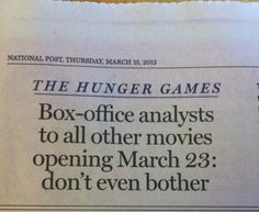 don't even bother #movie #hunger #games