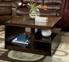 I like the look of this coffee table, but would prefer it less rustic...more polished and a lighter stain.