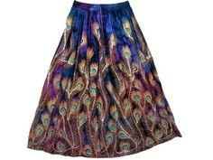 "Skirts for Womens Blue Lehenga Peacock Print Sequin Beaded Dcrapechic Long Skirts 36""l Mogul Interior, http://www.amazon.com/dp/B007Z9TE2O/ref=cm_sw_r_pi_dp_WE5Npb1WF0CNM$29.99"