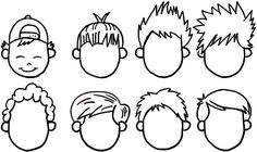 boy hair cartoon boys drawing hairstyles draw drawings styles anime characters mens easy step tutorial finished character getdrawings paintingvalley different