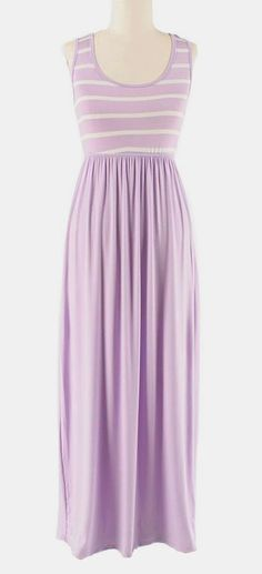 Lilac Stripe Maxi Dress