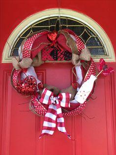 Valentine's Wreath (country theme)
