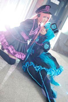 Megurine Luka & Hatsune Miku  #vocaloid #cosplay