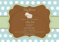 Little Lamb Baby Shower Invitation in Blue by EmmyJosParties, $12.00