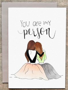 Best friend card / friendship card by GretaJanePaperCo on Etsy Best Friend Cards, Cards For Friends, Best Friend Gifts, Gifts For Friends, My Best Friend, Best Friend Birthday Cards, Bff Gifts, Cute Gifts, You Are My Person