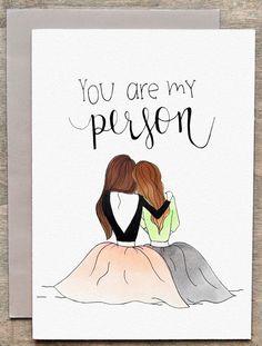 Best friend card / friendship card by GretaJanePaperCo on Etsy