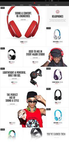 Beats by Dre Website | Abduzeedo Design Inspiration