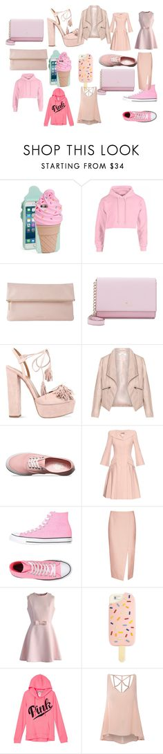 """Rosado"" by dancemomsfreak05 ❤ liked on Polyvore featuring Kate Spade, Whistles, Aquazzura, Zizzi, Vans, Alexander McQueen, Converse, C/MEO COLLECTIVE, Chicwish and Tory Burch"