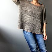 "...m/patterns/library/boxy""﹥Boxy pattern for the basic shapes and use the lace pattern from <span class=""best-highlight"">cancun boxy lace top instead of kitchener stitch.</span>  I picked and knitted different lace patterns from the lacy top randomly. Not really following..."