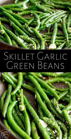 These Easy Skillet Garlic Green Beans are a fresh healthy side dish for so many family meals. They are so quick and simple to make and are vegan, paleo, keto and naturally gluten-free. Pretty much the perfect sautéed side dish. Healthy Side Dishes, Side Dishes Easy, Veggie Dishes, Easter Side Dishes, Cooked Vegetable Recipes, Easy Vegetable Side Dishes, Cooking Vegetables, Steamed Vegetables, Thanksgiving Vegetable Sides