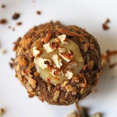 German Chocolate Thumbprint Cookie