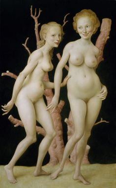 """John Currin's """"The Pink Tree,"""" 1999, from the Hirshhorn's collection"""