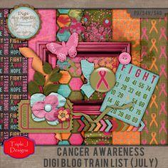 Triple J Designs: Cancer Awareness Blog Train