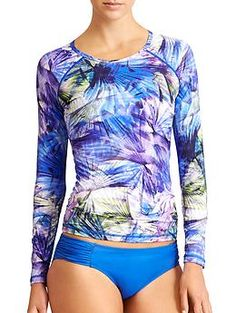 Kailua Rashguard - Hit up the sun-filled surf in this UPF 50+ fitted rashguard that reflects your own bold nature with an invigorating Hawaiian floral print.