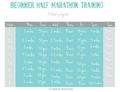 8 week half marathon training with printable. Since I've lost all my running ability! Interval Running, Running Workouts, Running Tips, Walking Workouts, Race Training, Training Schedule, Running Training, Beginner Half Marathon Training, Marathon Running