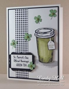 Use SU Itty Bitty Accents Punch Pack to make shamrocks and four leaf clovers (Mar 11, 2015)