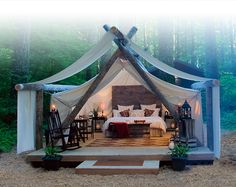 Pampered Wilderness; The art of luxury camping (Right here in Washington State. Olympia Washington to be exact. Bring on the wilderness)